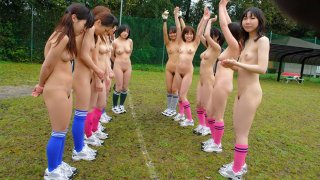 Cute girls playing soccer naked and getting fucked hardcore - Japan HDV