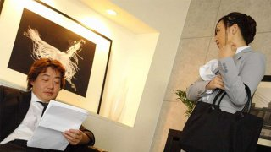 Lovely brunette, Ayumi Wakaba might like an office threesome - Japan HDV