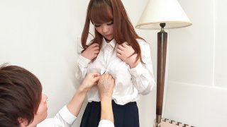 Busty Anju Akane steps out of the shower and sucks cock - JAVHD