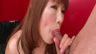 Hot asian milf Reiko Shimura on her knees to give head - HeyMilf