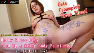 [4205-007] Horny Slave Gets Tied up & Messy Body Painting! - HeyDouga