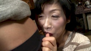 [J99-081C] The Sex Life Of A Stepmom And Her Stepson - Anna Hoshi, 54 Years Old - R18