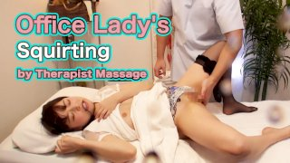 [4229-268] Office Lady's Squirting by Therapist Massage - HeyDouga