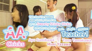 [4229-320] Three AA-cup Chicks Take Over The School! After Getting Turned On By The Sweaty Stinky Dicks, Our Ne - HeyDouga